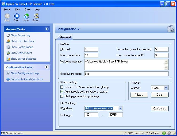 Quick 'n Easy FTP Server Lite Version 3,1 Ftpserver3lite_2