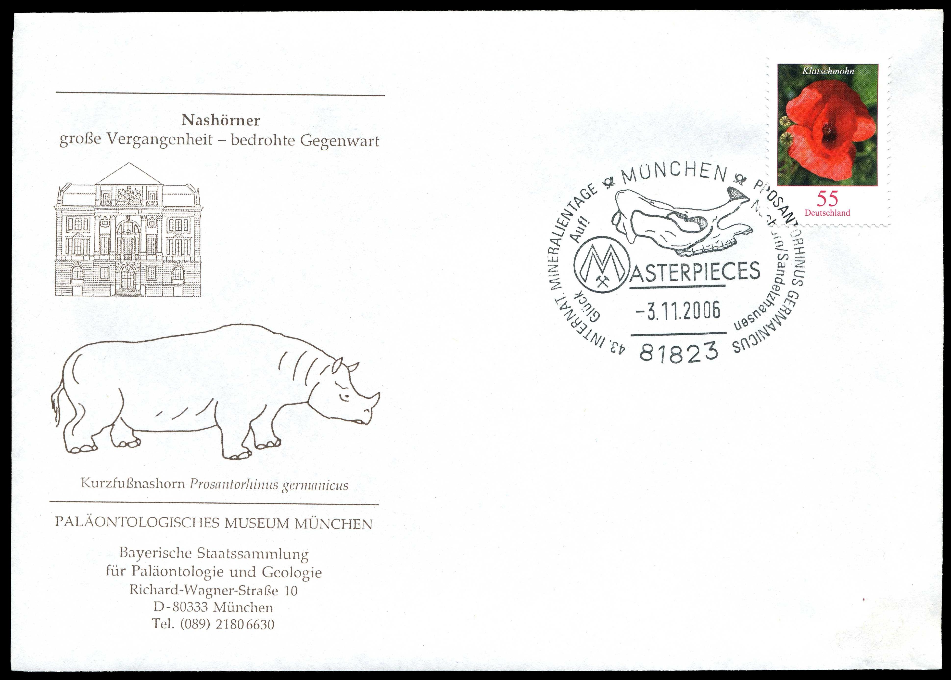 Paleophilatelie: Paläontologie und Philatelie  - Seite 2 Germany_2006_cov_paleo_muc