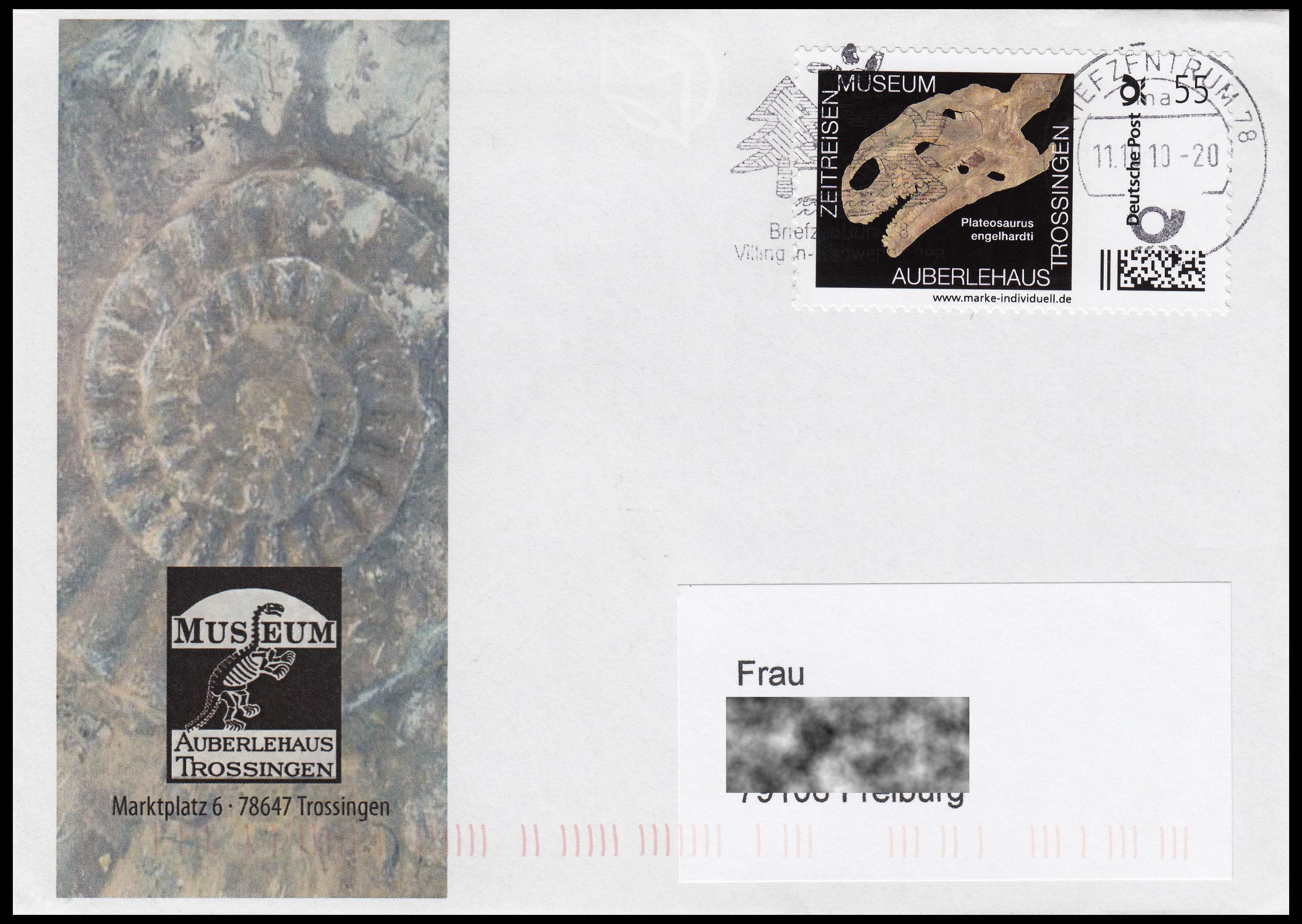 Paleophilatelie: Paläontologie und Philatelie  - Seite 2 Germany_2010_cov3