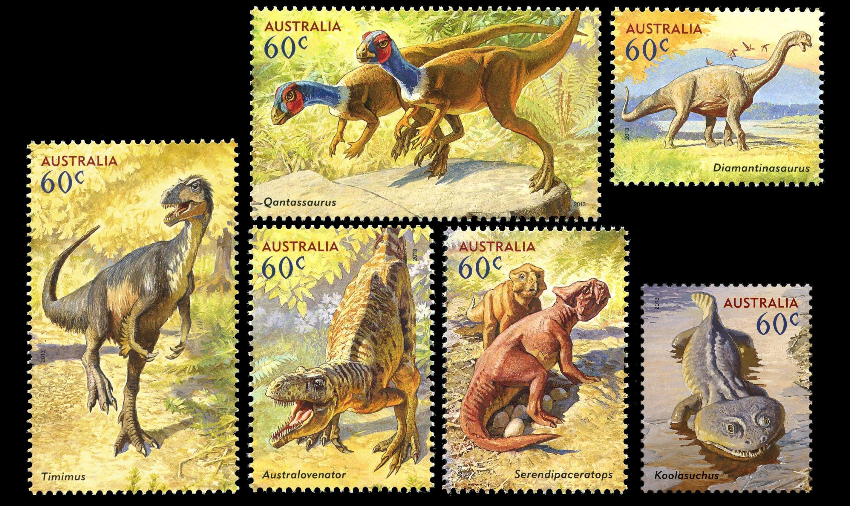 Paleophilatelie: Paläontologie und Philatelie  - Seite 2 Australia_2013