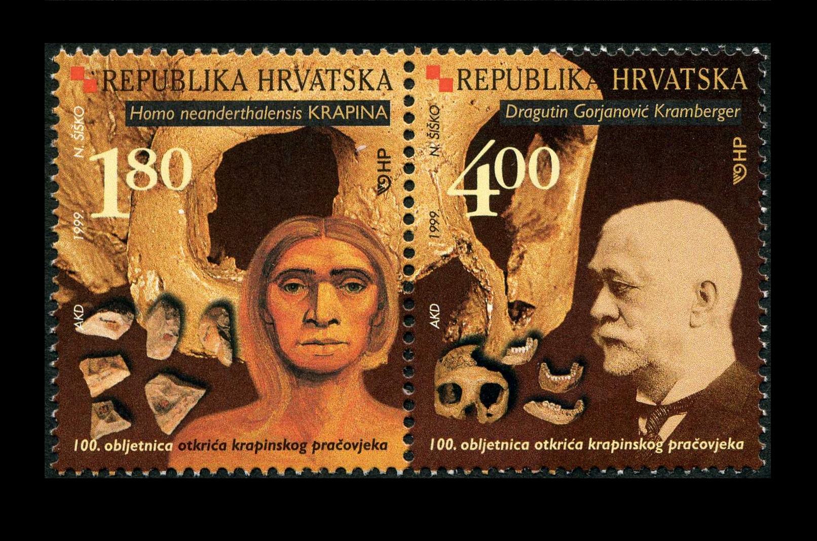 Paleophilatelie: Paläontologie und Philatelie  Croatia_1999
