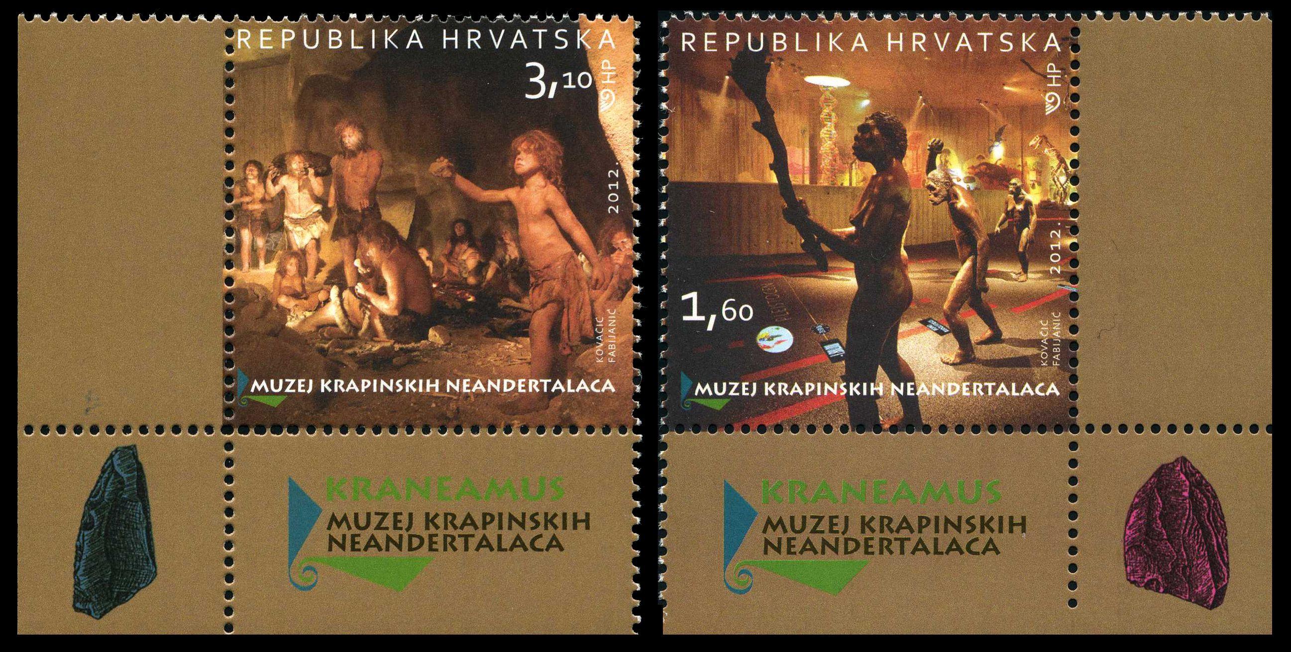 Paleophilatelie: Paläontologie und Philatelie  Croatia_2012