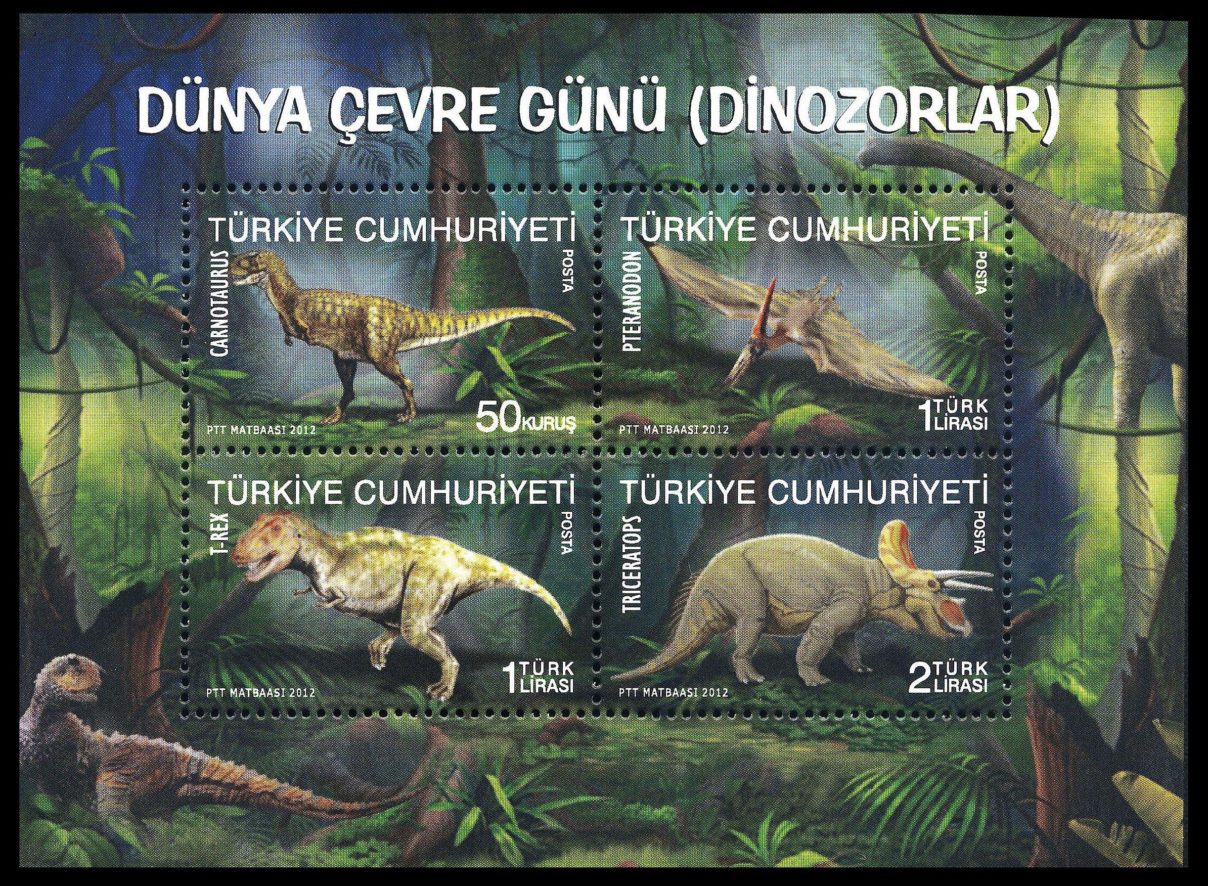 Paleophilatelie: Paläontologie und Philatelie  Turkey_2012