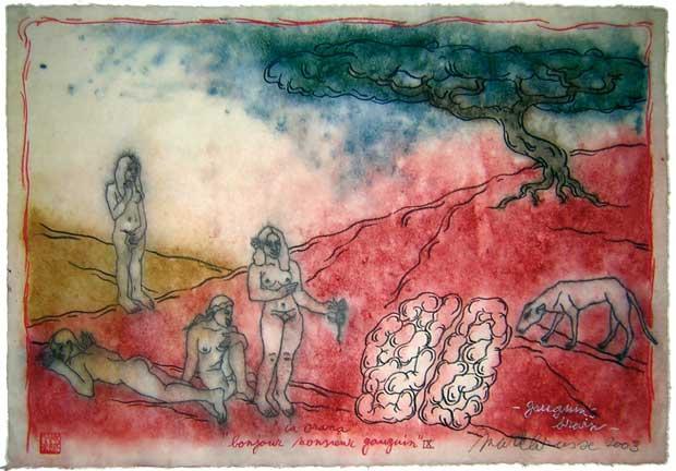 Galerie anne-marie et roland pallade - Exposition Mark Brusse Bonjour-monsieur-Gauguin-9