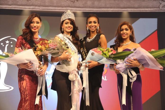 Miss Universe 2016 contestants Top-4-winners-L-R-Lina-Soong-Kiran-Jassal-Dhivya-Dhyana-Swarna-Naidu-696x464