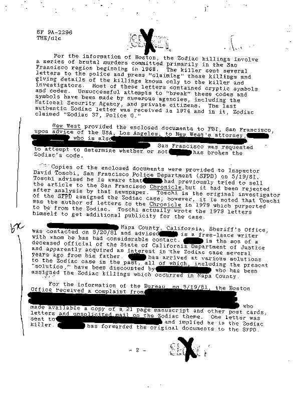 1981 FBI file Zodiac1