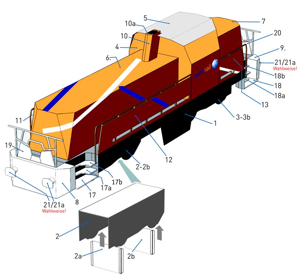 """Der """"Adler"""" - Deutschlands erste Lokomotive / Kartonmodell der Firma Schreiber - Seite 2 Gravita-assembly"""