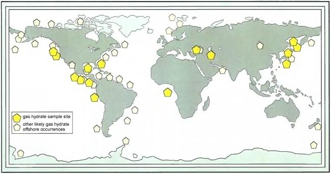 Faits étranges, disparitions et 35° parallèle nord Clathrate_methane