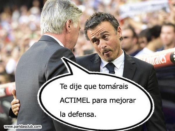 EL CLUB DE LA SUERTE Y DE LOS FUTBOLEROS Ancelotti-actimel