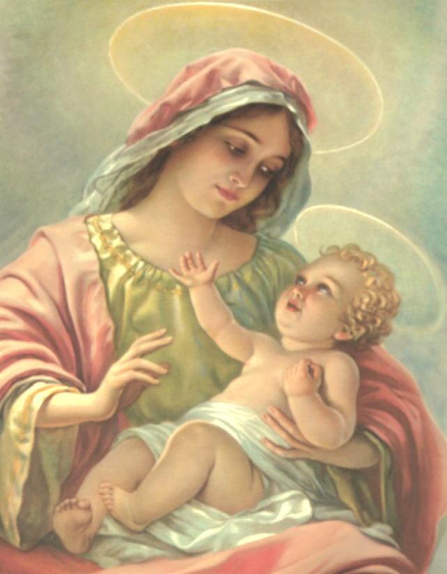 Сон Пресвятой Богородицы на исполнение желания Madonna-con-bambino-14