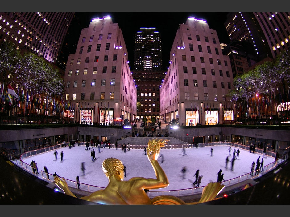 Fermeture de la patinoire au Disney's Hotel New York Patinoire-rockefeller-center-new-york