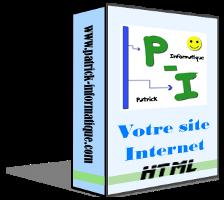 Patrick - Informatique : cours, dépannage, graphisme, tutoriels, vente BoiteSiteWebHtml