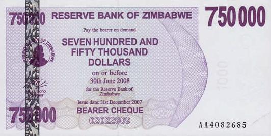 "Zimbabwe ""Bond Paper"" Notes Are Bonds? 243429557"