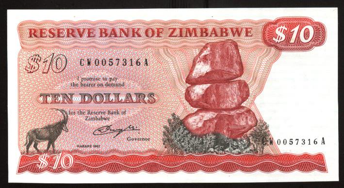 "Zimbabwe ""Bond Paper"" Notes Are Bonds? 424196372"