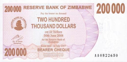 "Zimbabwe ""Bond Paper"" Notes Are Bonds? 876107646"