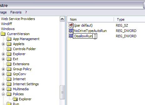 Interdire l'exécution d'un programme - Windows XP Interdireprog4