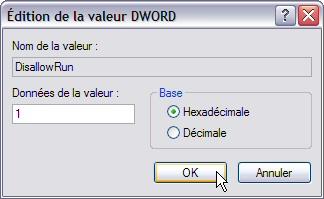 Interdire l'exécution d'un programme - Windows XP Interdireprog5
