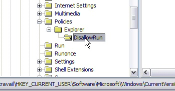 Interdire l'exécution d'un programme - Windows XP Interdireprog6