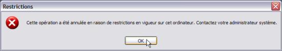 Interdire l'exécution d'un programme - Windows XP Interdireprog9