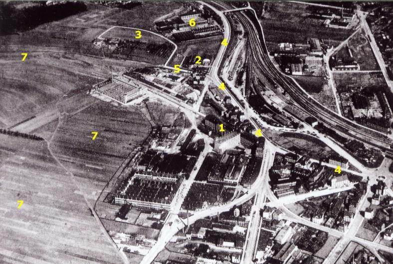 Bilder-Thread Siegelberg von 1900 bis 1950 LuftbildSiegelberg1925markiert