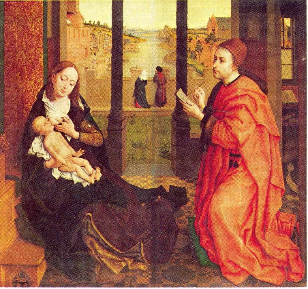 St Luc peignant la Vierge Rogier_Van_de_Weyden_Saint_Luc_peignant_la_Vierge
