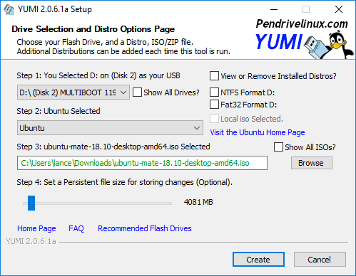 Las ventajas de tener un linux live en CD YUMI-Multiboot-USB-Creator