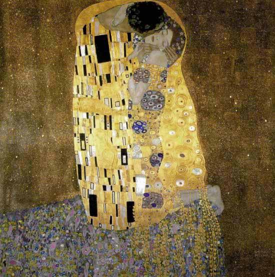 Compositeur / arts graphiques - Page 2 Klimt_kiss