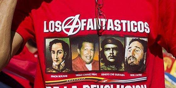 Fidel Castro. Chavez-camiseta