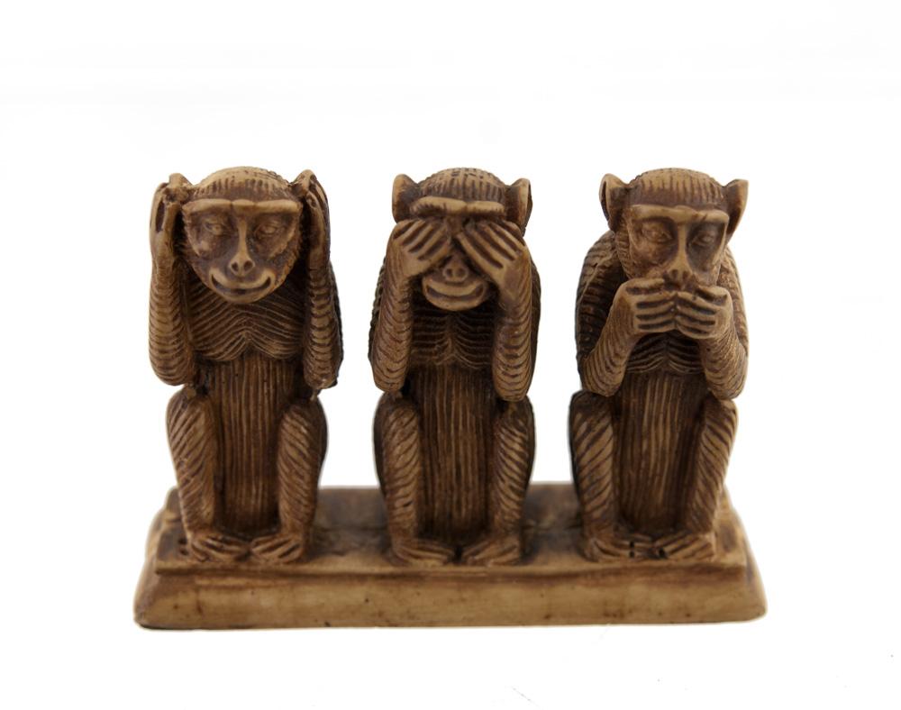 Un mot pour définir une image 3-singes-de-la-sagesse-en-resine-artisanat-fait-main-250813-00008