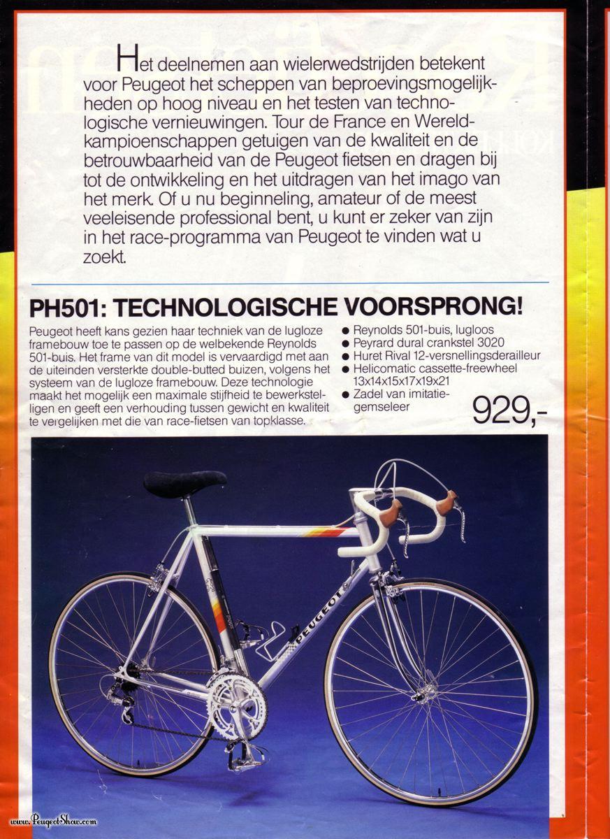 cadre course PEUGEOT  PH 10 LS  : remontage d'époque ! 1986  - Page 3 1985race_2