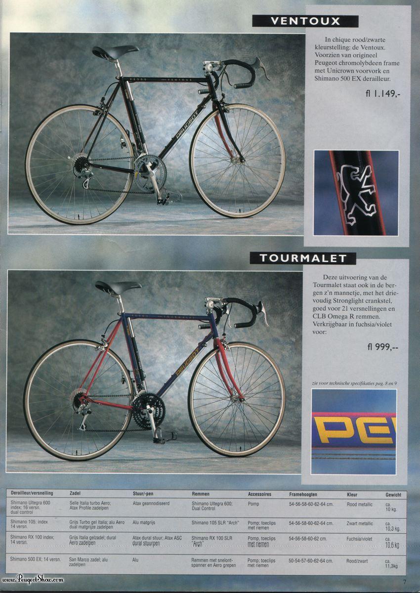 PEUGEOT TOURMALET 21 V 1992   1992nl_07