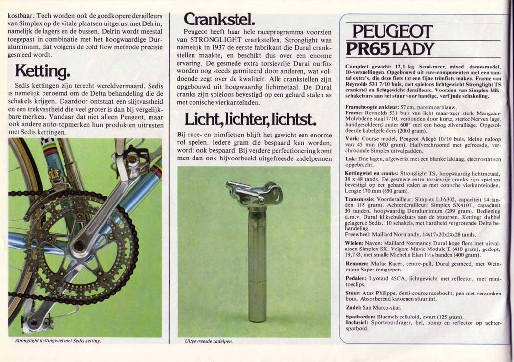 vélo dame PEUGEOT PR 65 LADY  doré de 1978-79 neuf  1978_10