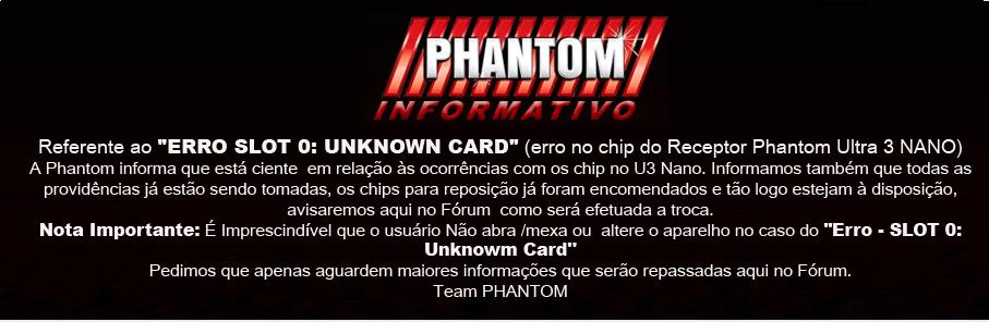 NANO - COMUNICADO PHANTOM SOBRE ERRO CHIP MODELO ULTRA 3 NANO CONFIRAM INFORMATIVO-NANO-CHIP