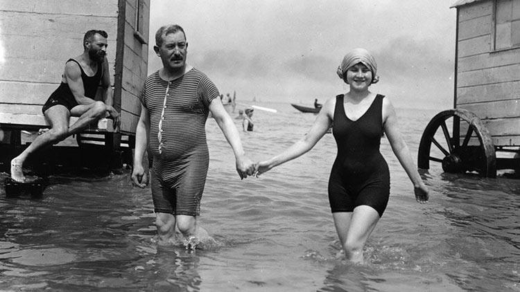 Maillot de bain 1907 Avant-le-bikini-photo-ancienne-belgique