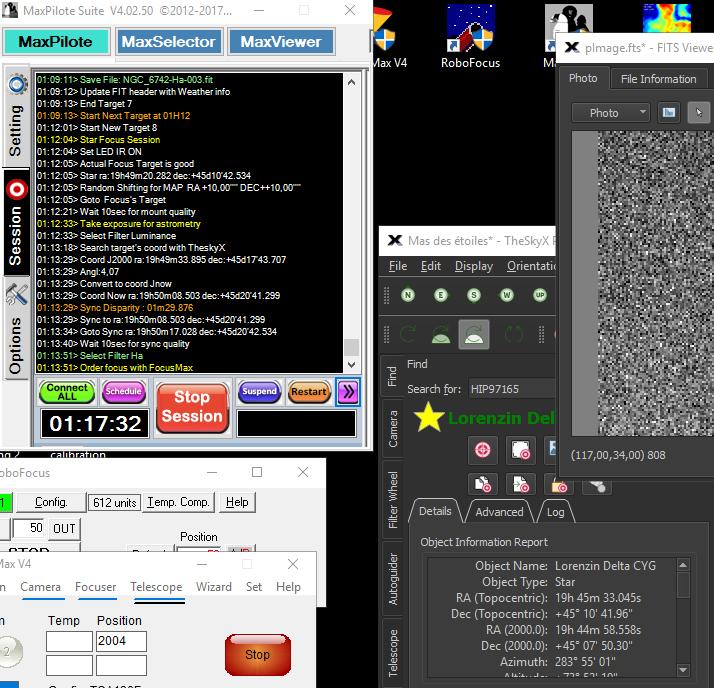 Coordonnées objets différentes entre MaxPilot et TheSkyX lors de la MAP FocusMax