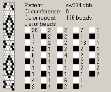 Техника:Жгут из бисера, вязанный крючком 3os2ur-7hs
