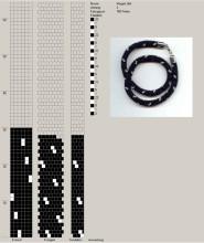 Техника:Жгут из бисера, вязанный крючком 3os51d-tca