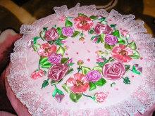 Розы из ткани 3r7u54-19b