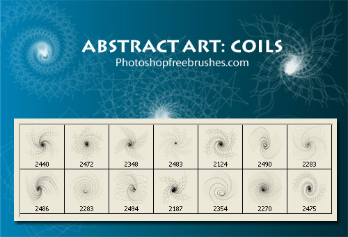 Coil Photoshop Brushes Abstract-art-coil-1