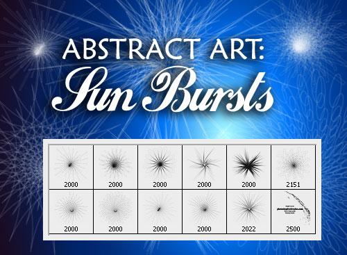Brushes - Sun Abstract-art-sun-1