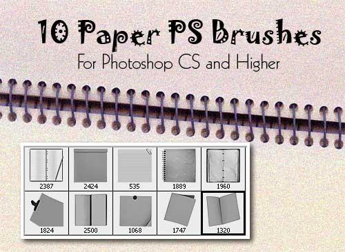 Кисти - Страница 2 Paper-photoshop-brushes