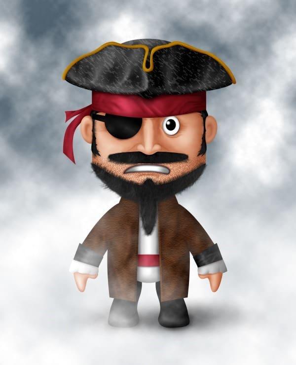 [حصريا] كيفية تصميم قرصان بالفوتوشوب - How to Draw a Cute Pirate Character in Photoshop Final-results1