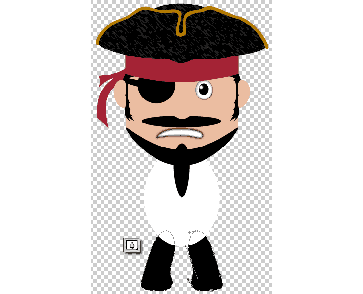 [حصريا] كيفية تصميم قرصان بالفوتوشوب - How to Draw a Cute Pirate Character in Photoshop Step-022