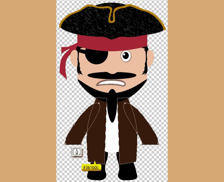[حصريا] كيفية تصميم قرصان بالفوتوشوب - How to Draw a Cute Pirate Character in Photoshop Step-023
