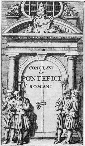 Le sédévacantisme est une erreur et un péché grave : Anti-papes... Triple-crown-closed-door