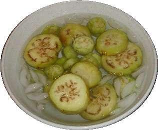 تجميد الخضروات والفواكه Eggplant_ice