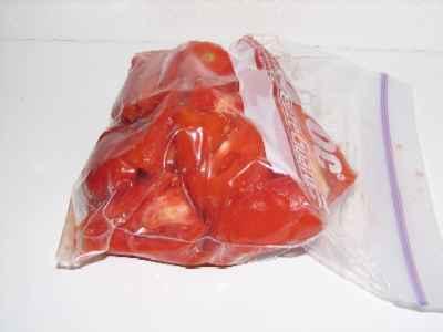 حفظ الخضروات و الفاكهة Tomatoesziplocsl