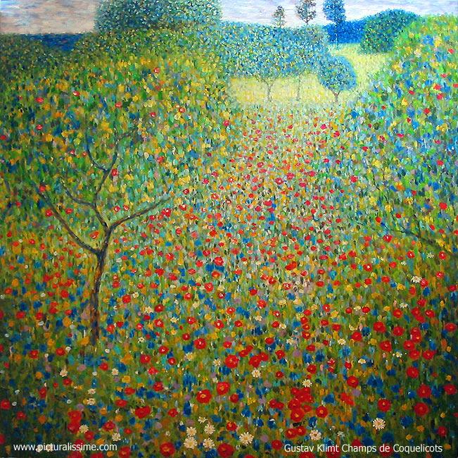 de l'art Klimt_coquelicots_l