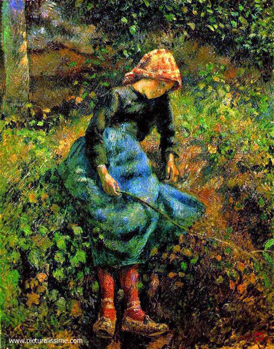les tableaux que j'aime Pissarro_jeune_fille_baguette_l
