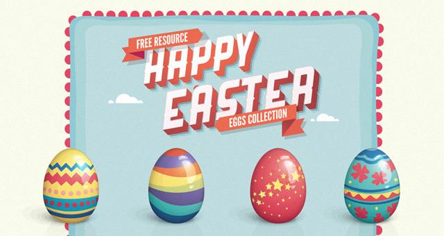 Vector Easter Eggs Set  001-vector-easter-eggs